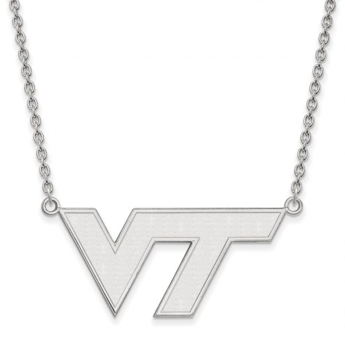 Virginia Tech Hokies Sterling Silver Large Pendant Necklace