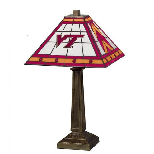 Virginia Tech Hokies Stained Glass Mission Table Lamp