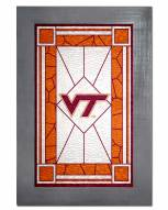 Virginia Tech Hokies Stained Glass with Frame