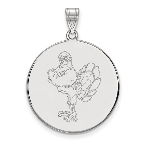 Virginia Tech Hokies Sterling Silver Extra Large Disc Pendant