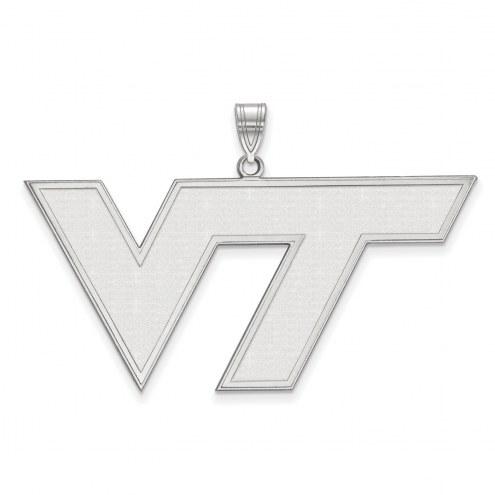 Virginia Tech Hokies Sterling Silver Extra Large Pendant