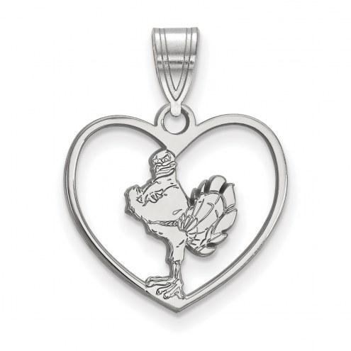Virginia Tech Hokies Sterling Silver Heart Pendant
