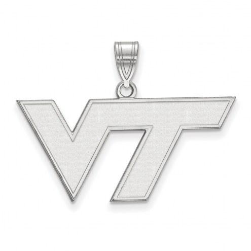 Virginia Tech Hokies Sterling Silver Medium Pendant