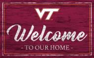 Virginia Tech Hokies Team Color Welcome Sign