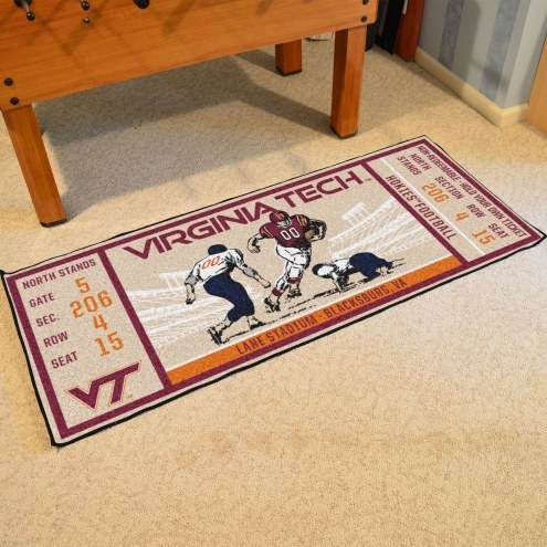 Virginia Tech Hokies Ticket Runner Rug