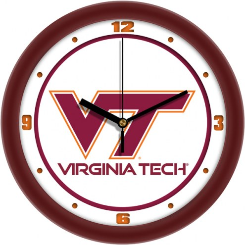 Virginia Tech Hokies Traditional Wall Clock