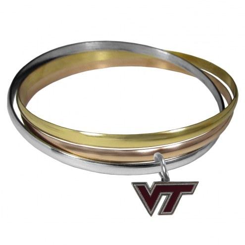 Virginia Tech Hokies Tri-color Bangle Bracelet