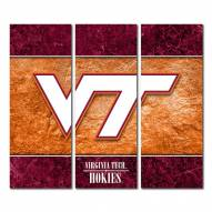 Virginia Tech Hokies Triptych Double Border Canvas Wall Art