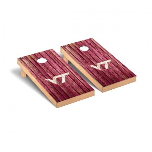 Virginia Tech Hokies Weathered Cornhole Game Set