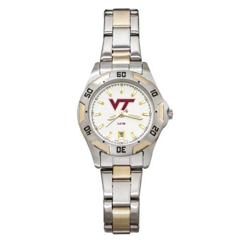 Virginia Tech Hokies Women's All-Pro Two-Tone Watch