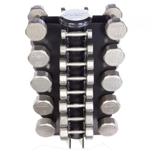 VTX 13 Pair Vertical Dumbbell Rack Set With 12 Sided Cast Iron Dumbbells