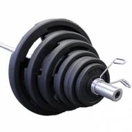 VTX 300 lb. Olympic Rubber Encased Grip Plate Weight Set
