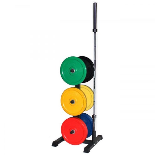 VTX Vertical Olympic Bar and Bumper Plate Rack Set