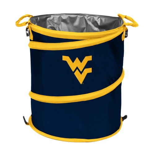 West Virginia Mountaineers Collapsible Trashcan