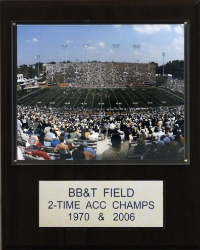 "Wake Forest Demon Deacons 12"" x 15"" BB&T Field Stadium Plaque"