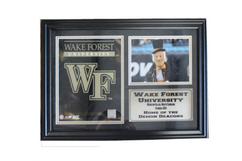 """Wake Forest Demon Deacons 12"""" x 18"""" Photo Stat Frame"""