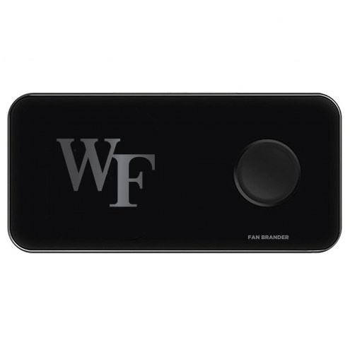 Wake Forest Demon Deacons 3 in 1 Glass Wireless Charge Pad
