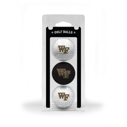 Wake Forest Demon Deacons 3 Pack of Golf Balls