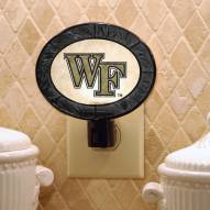 Wake Forest Demon Deacons Art Glass Night Light