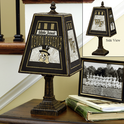 Wake Forest Demon Deacons Art Glass Table Lamp