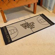 Wake Forest Demon Deacons Basketball Court Runner Rug