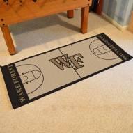 Wake Forest Demon Deacons Basketball Court Runner Rug