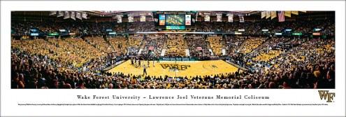 Wake Forest Demon Deacons Basketball Unframed Panorama