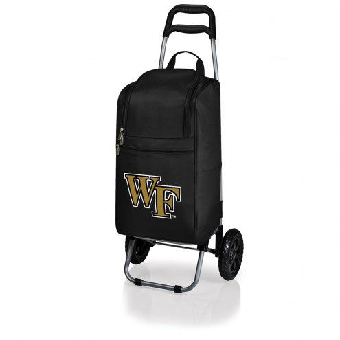 Wake Forest Demon Deacons Black Cart Cooler