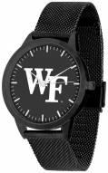 Wake Forest Demon Deacons Black Dial Mesh Statement Watch