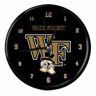 Wake Forest Demon Deacons Black Rim Clock