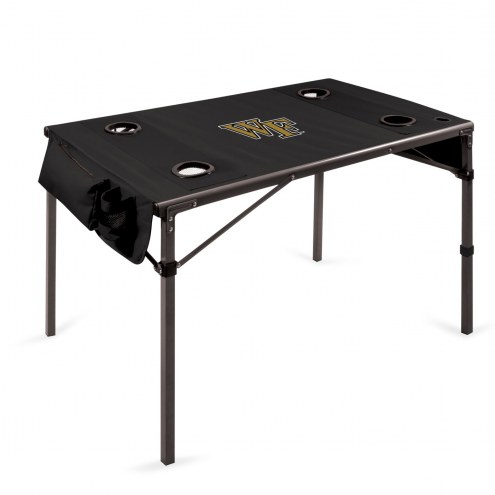 Wake Forest Demon Deacons Black Travel Table