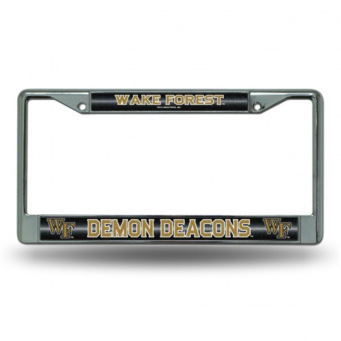 Wake Forest Demon Deacons Bling Chrome License Plate Frame
