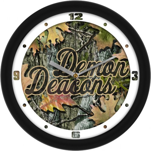 Wake Forest Demon Deacons Camo Wall Clock