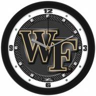 Wake Forest Demon Deacons Carbon Fiber Wall Clock