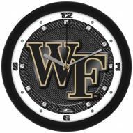 Wake Forest Demon Deacons Carbon Fiber Wall Clock
