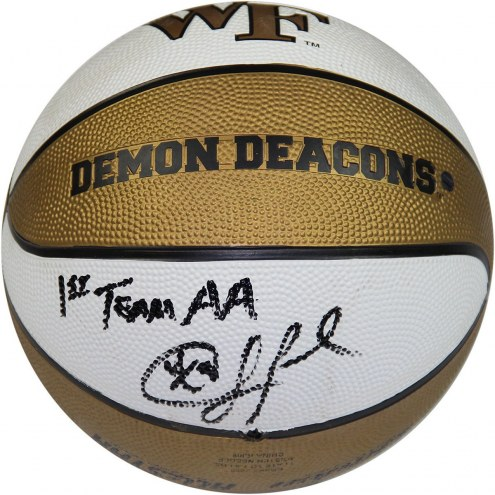 Wake Forest Demon Deacons Chris Paul Signed Rubber Full Size Basketball w/ 1st Team AA