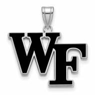 Wake Forest Demon Deacons Sterling Silver Large Enameled Pendant