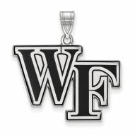 Wake Forest Demon Deacons Sterling Silver Large Enameled Pendant