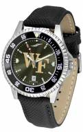 Wake Forest Demon Deacons Competitor AnoChrome Men's Watch - Color Bezel