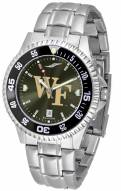 Wake Forest Demon Deacons Competitor Steel AnoChrome Color Bezel Men's Watch