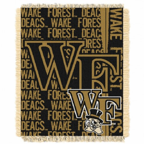 Wake Forest Demon Deacons Double Play Woven Throw Blanket