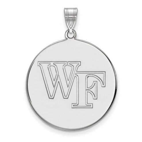 Wake Forest Demon Deacons Sterling Silver Extra Large Disc Pendant