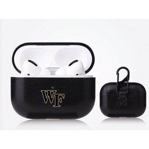 Wake Forest Demon Deacons Fan Brander Apple Air Pod Pro Leather Case