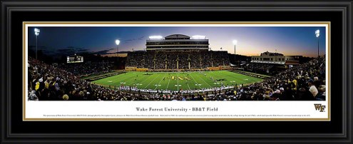 Wake Forest Demon Deacons Football Deluxe Framed Panorama