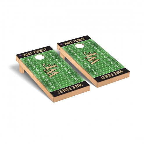 Wake Forest Demon Deacons Football Field Cornhole Game Set