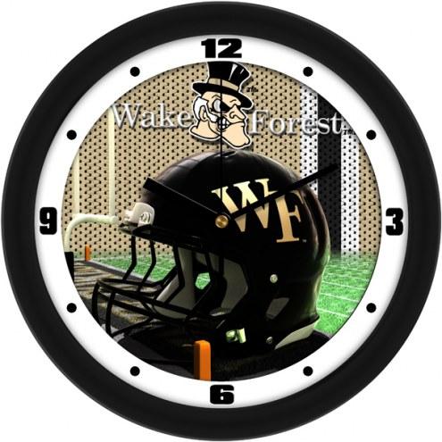 Wake Forest Demon Deacons Football Helmet Wall Clock