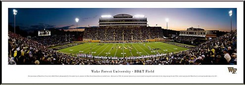 Wake Forest Demon Deacons Football Standard Framed Panorama