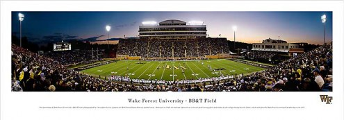 Wake Forest Demon Deacons Football Unframed Panorama