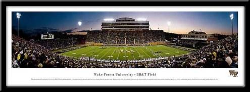 Wake Forest Demon Deacons Framed Stadium Print