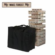 Wake Forest Demon Deacons Giant Wooden Tumble Tower Game